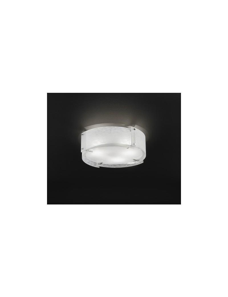 PERENZ: Plafoniera onda cromo lucido diffusore in vetro satinato in offerta