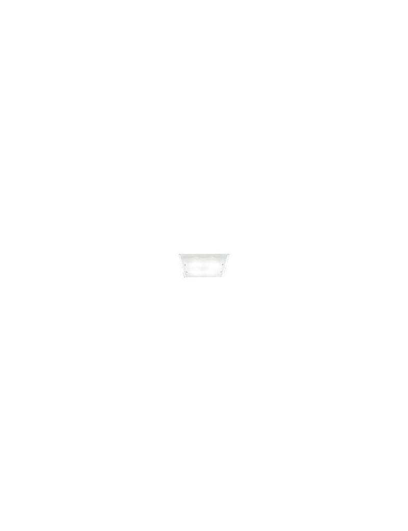 PERENZ: Plafoniera bianca quadrata in vetro lampada soffitto in offerta