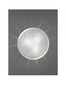 PERENZ: Plafoniera rotonda con vetro e cristalli incastonati 40cm in offerta
