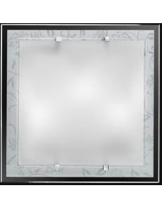 Plafoniera bianca quadrata decoro bianco