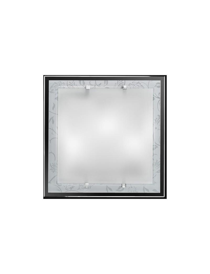 PERENZ: Plafoniera bianca quadrata decoro bianco in offerta