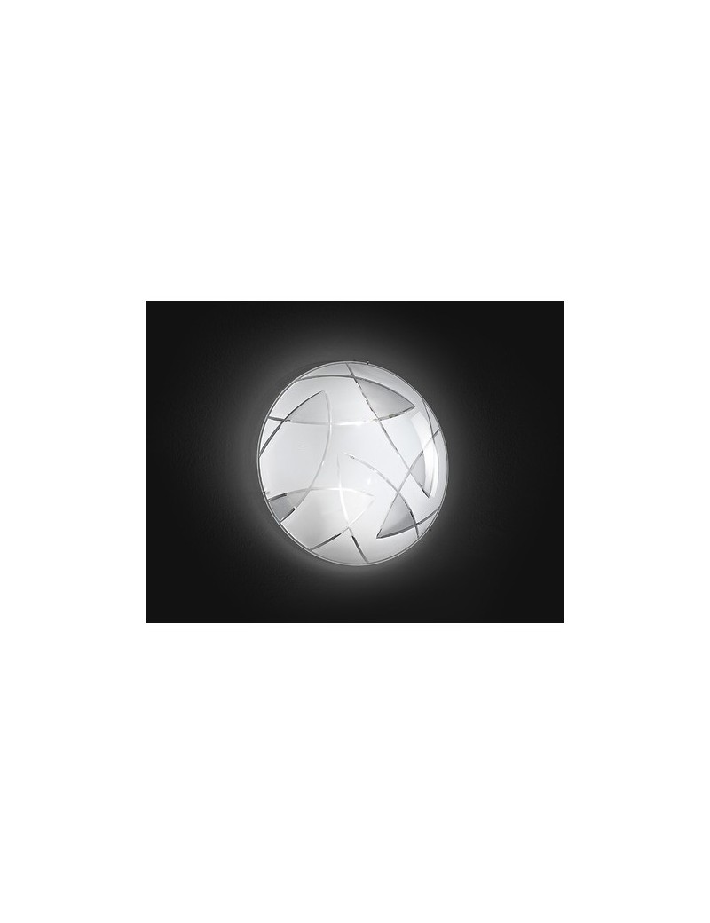 PERENZ: Lampada soffitto plafoniera in metallo con vetro decorato in offerta