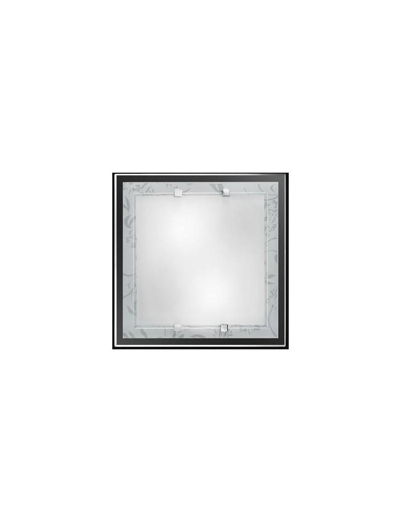 PERENZ: Plafoniera quadrata bianca decoro bianco in offerta