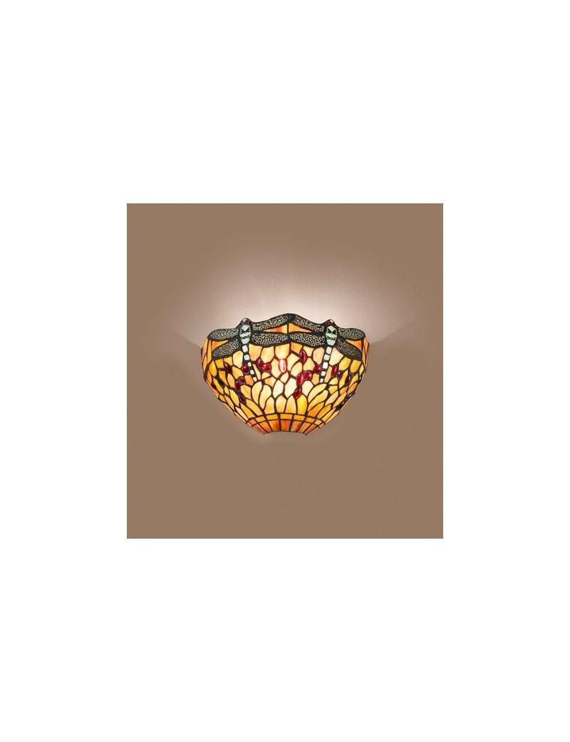 PERENZ: Tiffany applique parete decorata gocce rosse e libellule in offerta