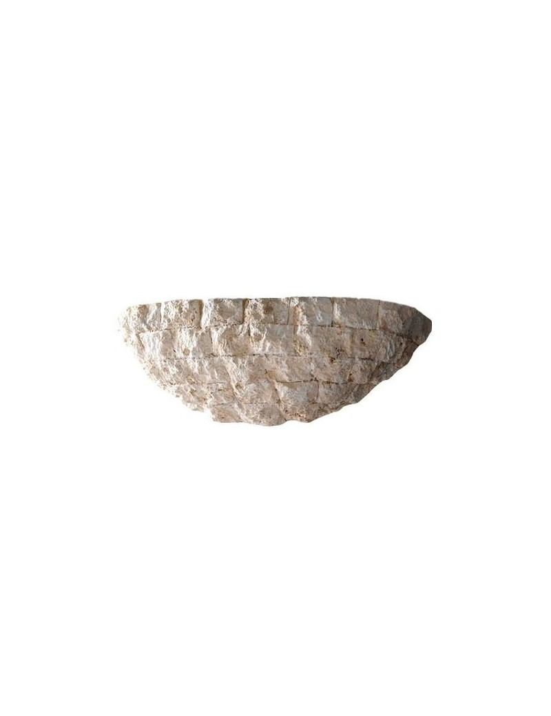 PERENZ: Lampada applique rivestita pietra bianca scolpita in offerta