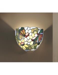 PERENZ: Tiffany t534 applique lampada parete disegni fiori farfalle in offerta