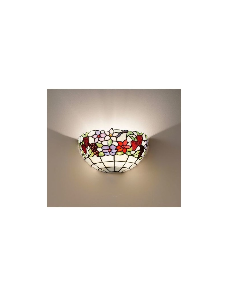PERENZ: Tiffany t996 applique decorato con fiori e frutta in offerta