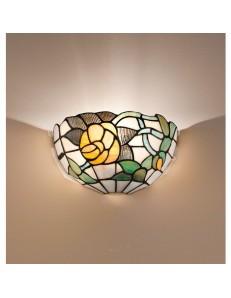 PERENZ: Tiffany t727a applique da parete con fiori e foglie colorati in offerta