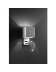 PERENZ: Applique LED con paralume in tessuto luce lettura per camera in offerta