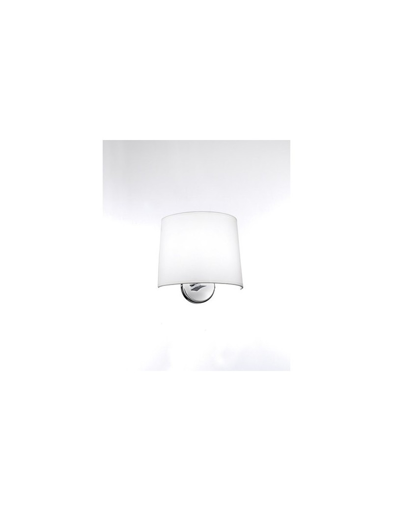 PERENZ: Applique a parete con paralume in stoffa bianco in offerta