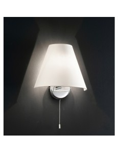 PERENZ: Applique da parete cromo lucido paralume bianco lampada in offerta