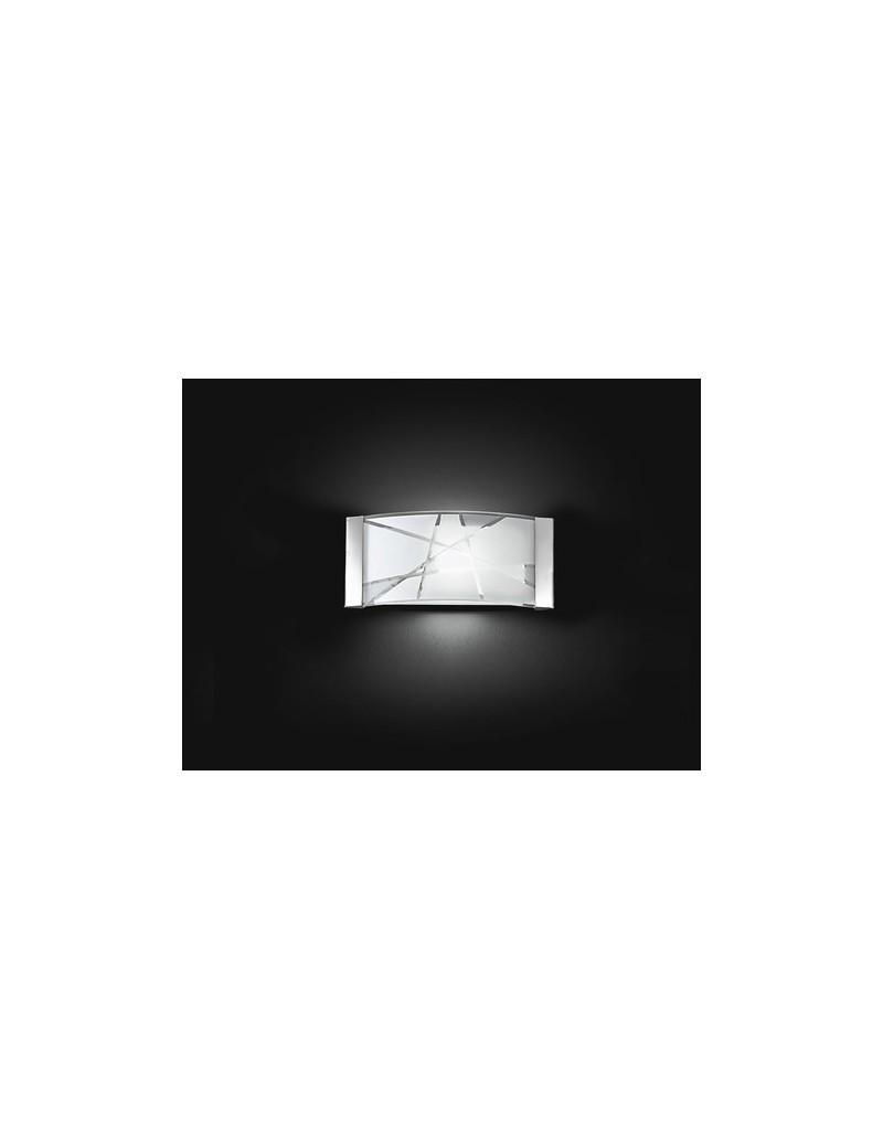 PERENZ: Applique da parete metallo con vetro decorato in offerta