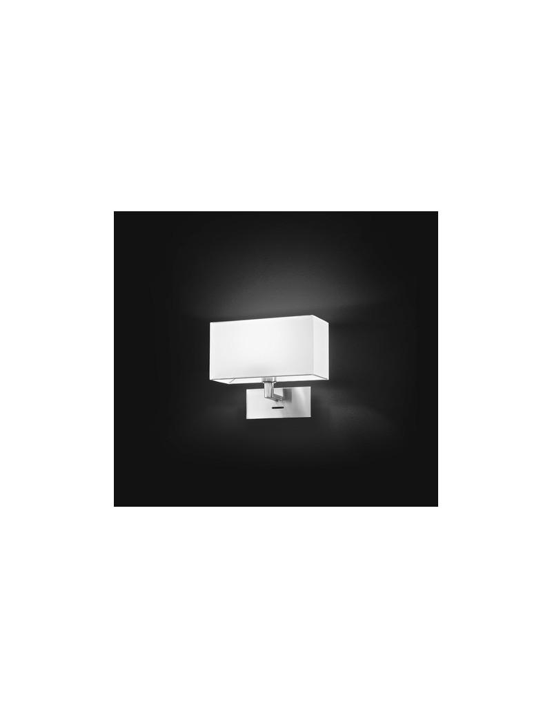 Applique base cromo paralume pvc perenz 5880 cr lampada parete - Applique camera da letto ...