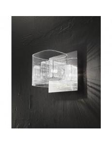 Applique da parete cromo lucido vetro trasparente