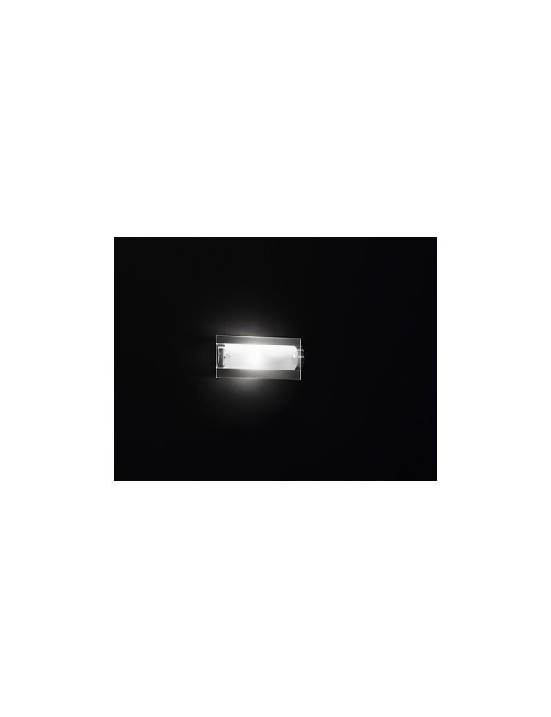 PERENZ: Applique cromo vetro trasparente e bianco piccola in offerta