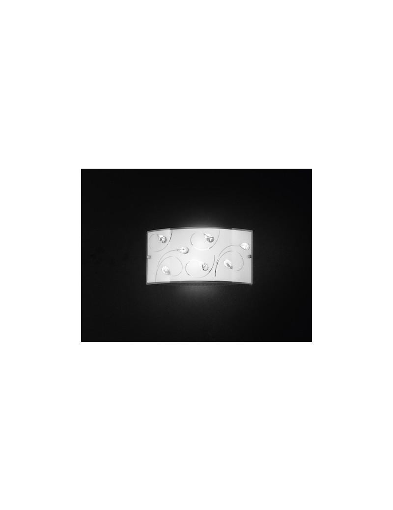 PERENZ: Applique in vetro con cristalli lampada parete in offerta