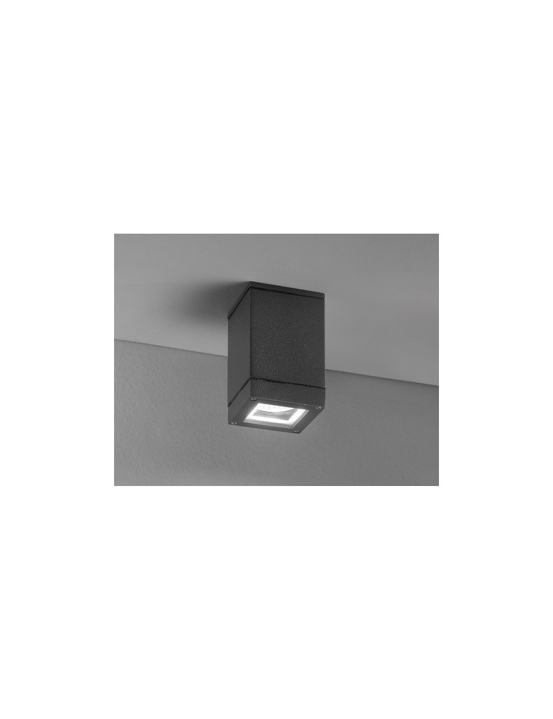 PERENZ: Applique alluminio per esterni e interni quadrata nero in offerta