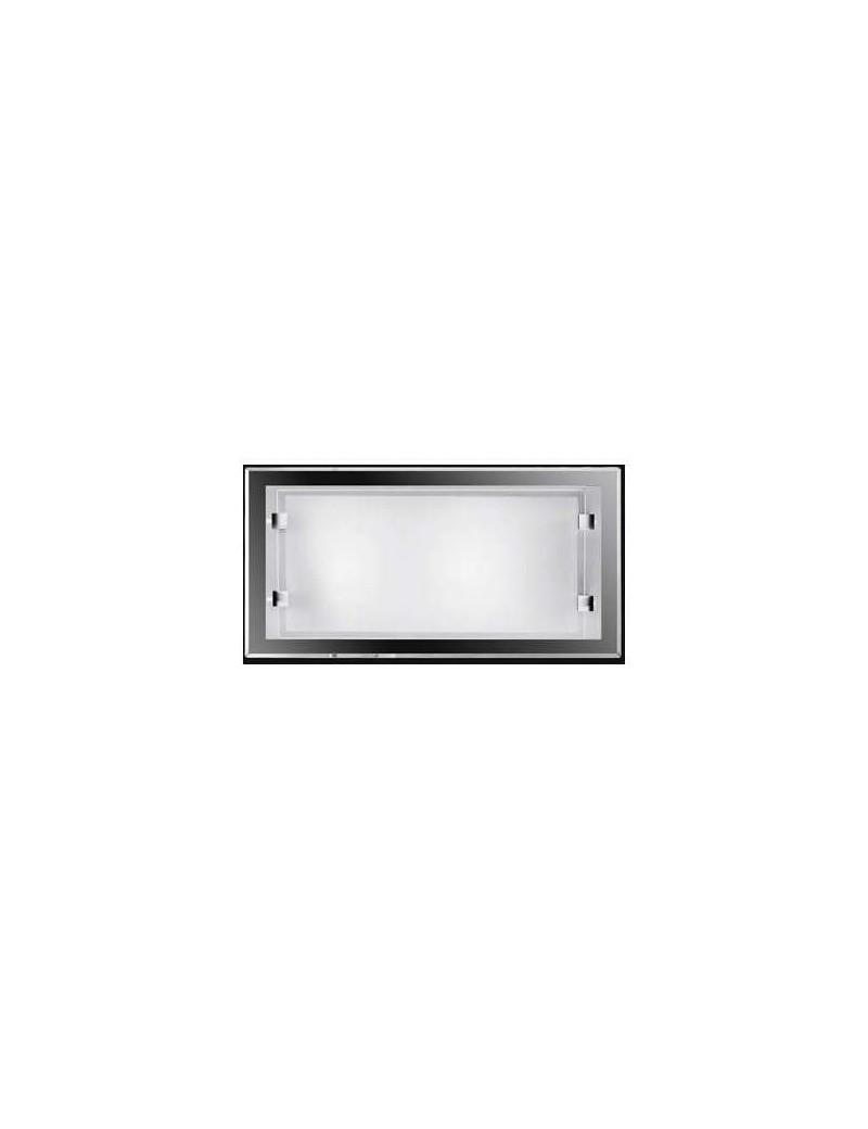 PERENZ: Applique vetro bianco rettangolare piccola economica in offerta
