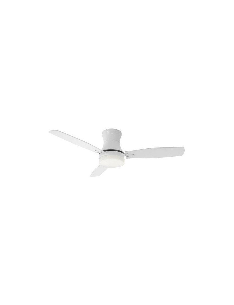 PERENZ: Ventilatore per soffitto con luce telecomando color bianco in offerta