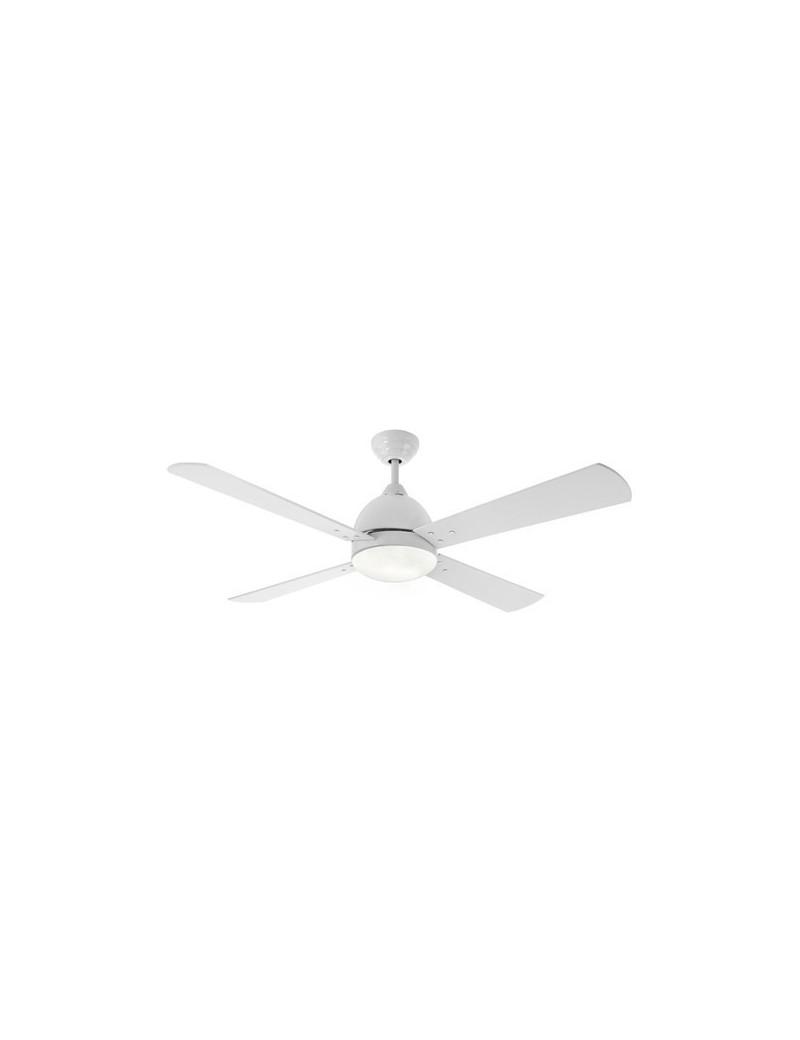 PERENZ: Ventilatore soffitto 4 pale con luce corpo metallo bianco in offerta