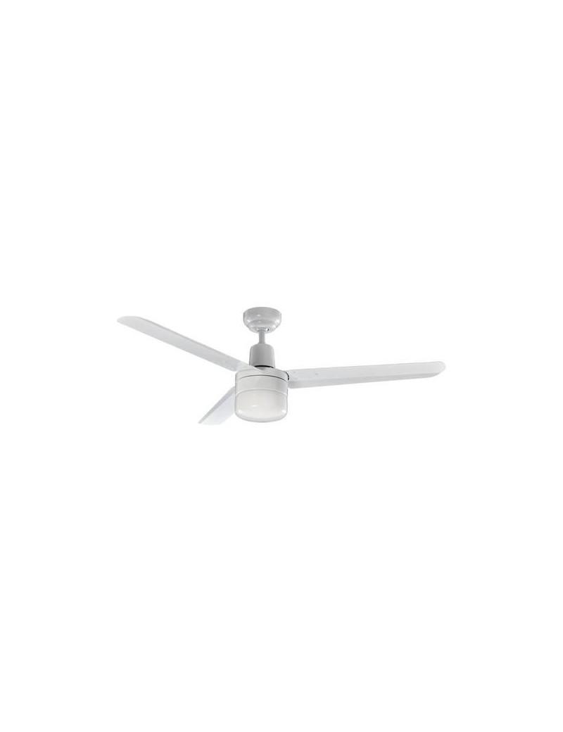PERENZ: Ventilatore soffitto 3 pale con luce metallo bianco 120cm in offerta