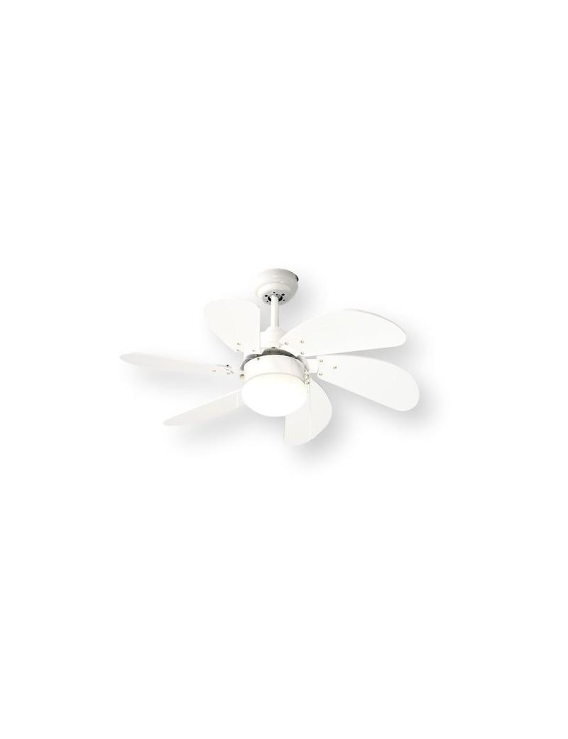 PERENZ: Ventilatore 6 pale luce per piccoli ambienti bianco in offerta
