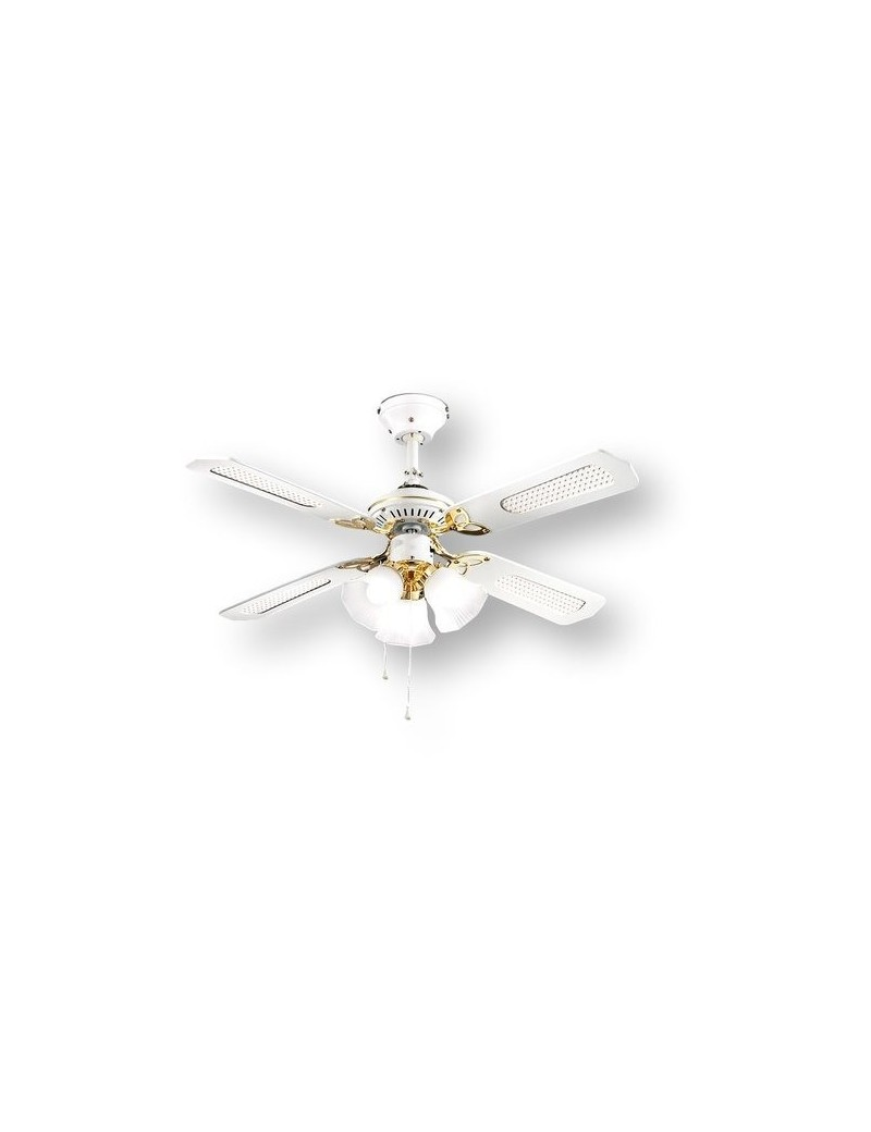 PERENZ: Ventilatore 4 pale con luce bianco 105cm in offerta