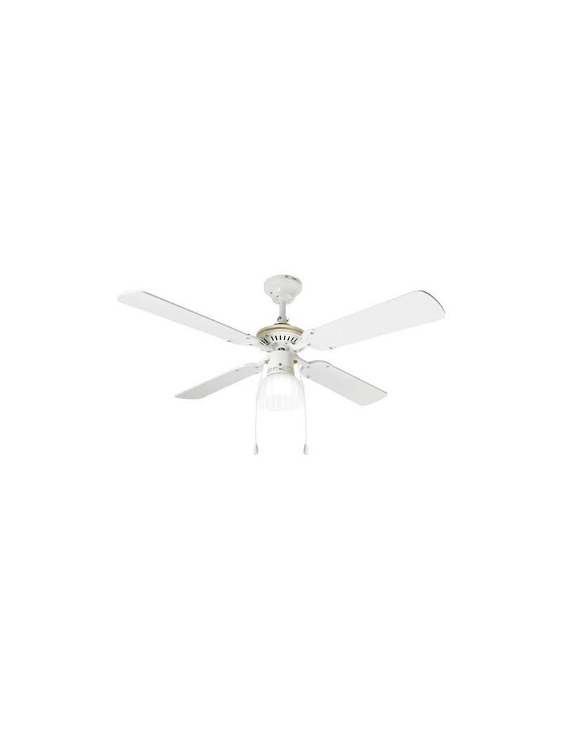 PERENZ: Ventilatore soffitto metallo bianco 4 pale 105cm in offerta