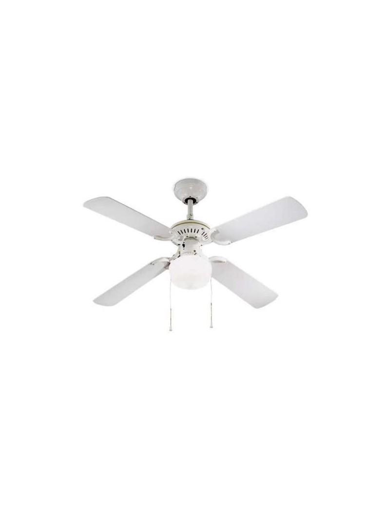 PERENZ: Ventilatore 4 pale con luce economico bianco 105cm in offerta