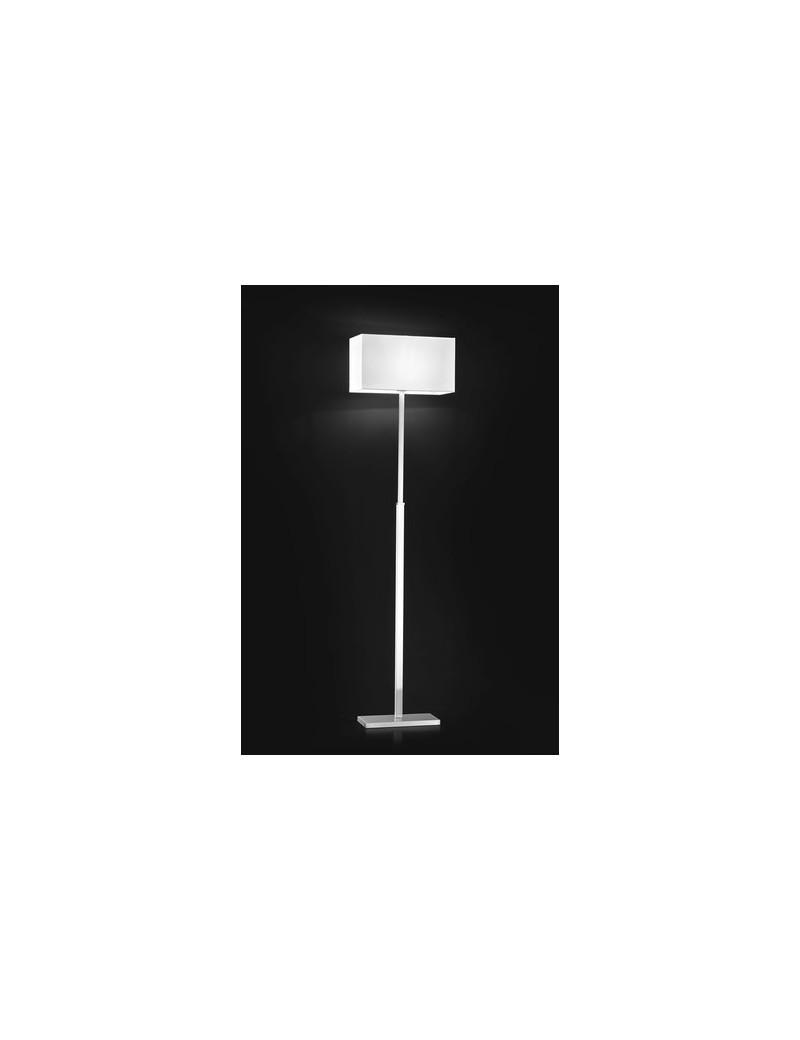 PERENZ: Piantana lampada cromo spazzolato paralume colore chiaro in offerta
