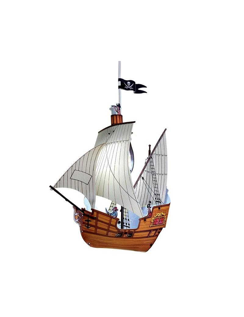 LINEAZERO: Veliero pirati lampada a sospensione per cameretta bambini in offerta