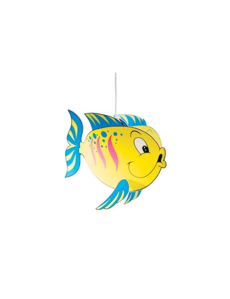Fish giallo lampada sospensione cameretta bimbi camera pesce pesciolino