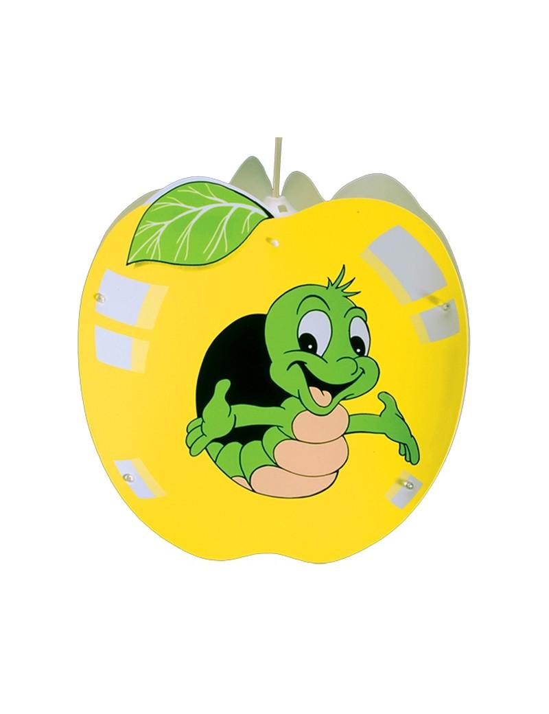 apple mela giallo lampada sospensione cameretta bambini bimbo bimba