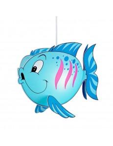 Fish blu lampada sospensione cameretta bimbi camera pesce pesciolino