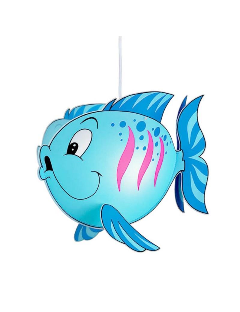 Fish blu lampada sospensione cameretta bimbi camera pesce for Applique cameretta bimbi