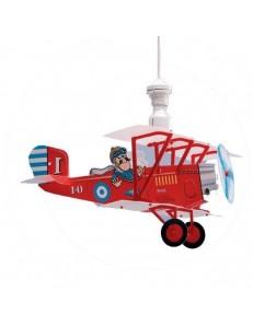 LINEAZERO: Biplano lampada cameretta bambini design aereo rosso in offerta