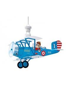 LINEAZERO: Biplano blu lampada sospensione cameretta bambini design aereo in offerta