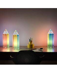 Matita multicolore lampada cameretta bambini tavolo scrivania bambino
