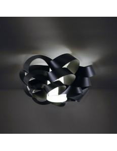 LINEAZERO: Cloud plafoniera nero dal design morbido e avvolgente scenico 40cm in offerta