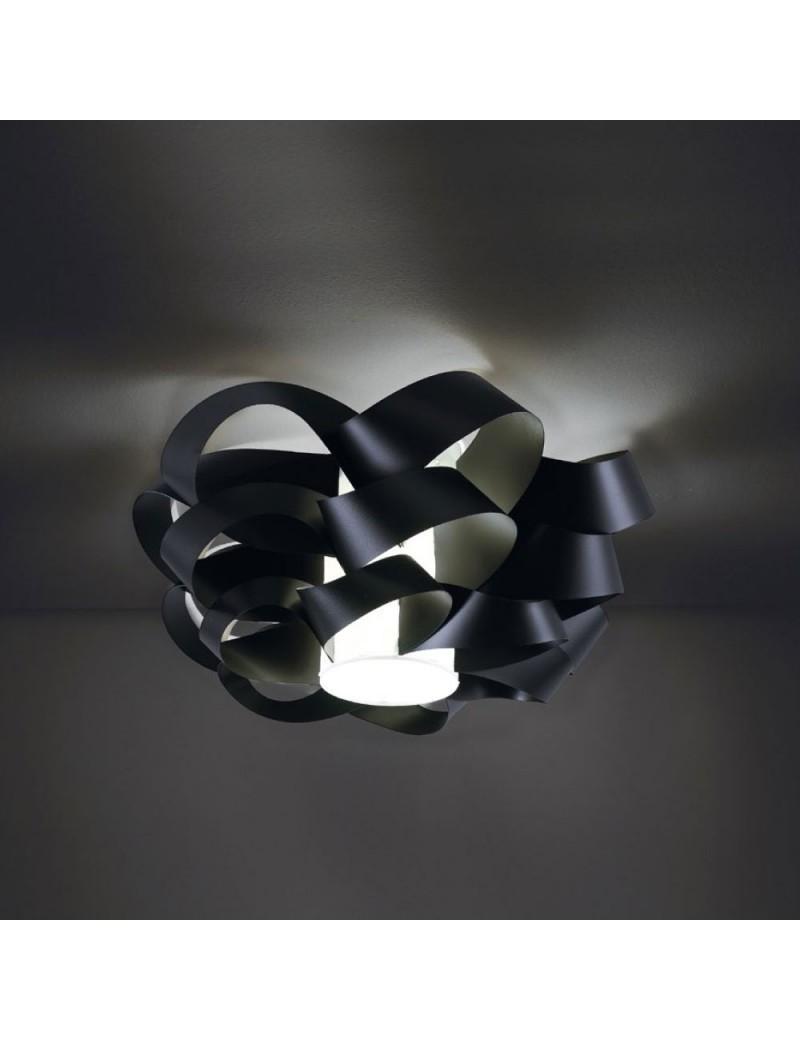 LINEAZERO: Cloud plafoniera nero dal design morbido e avvolgente scenico 75cm in offerta