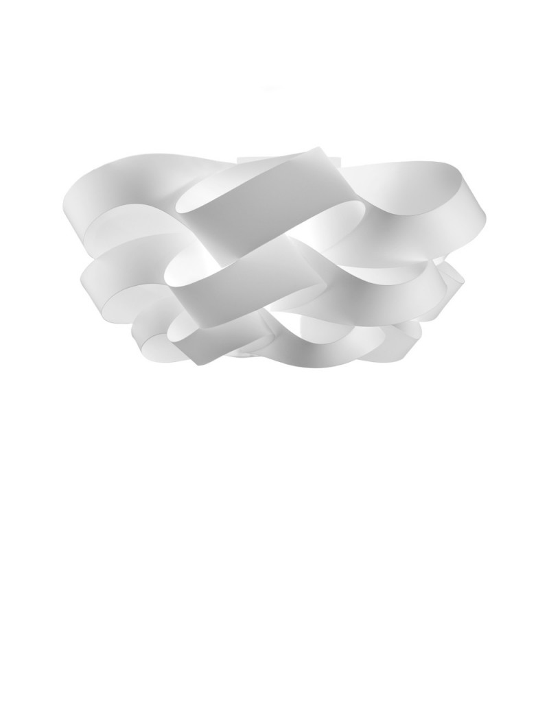 LINEAZERO: Cloud plafoniera dal design morbido e avvolgente scenico bianco 75cm in offerta
