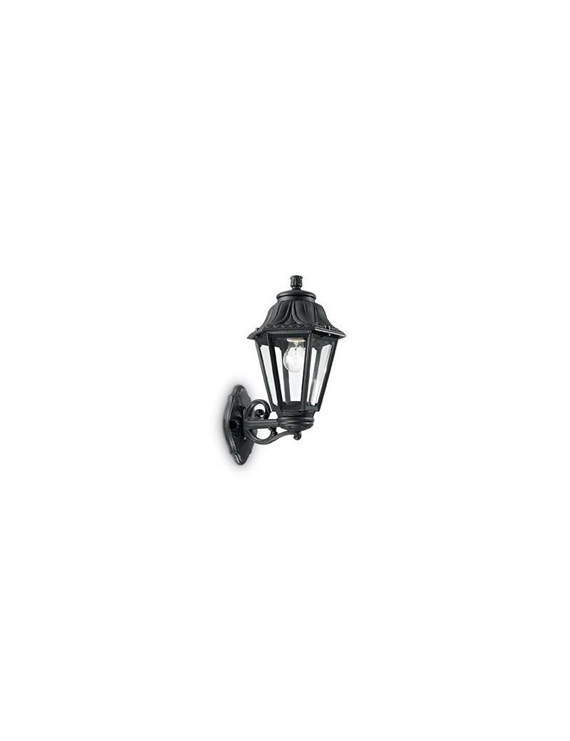 IDEAL LUX: Anna applique illuminazione giardino resina nero anti ingiallimento in offerta