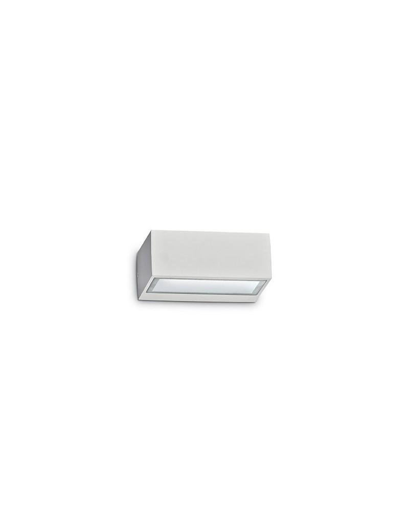 IDEAL LUX: Twin ap1 applique doppio diffusore giardino esterno alluminio bianco in offerta