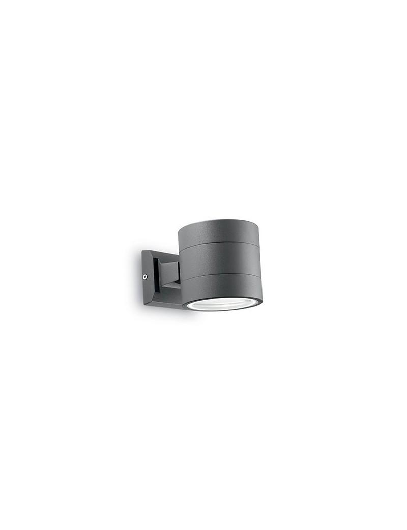 IDEAL LUX: Snif ap1 round applique esterno giardino doppio diffusore alluminio rotonda antracite in