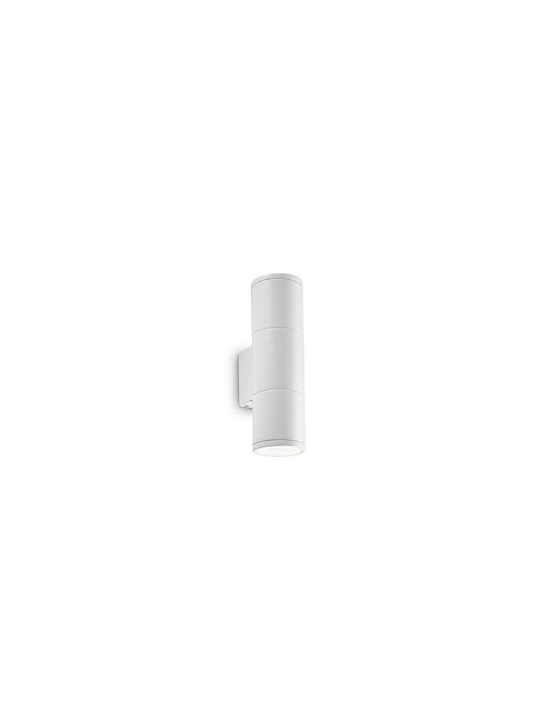 IDEAL LUX: Gun applique parete per esterno bianco doppio diffusore vetro 21cm in offerta