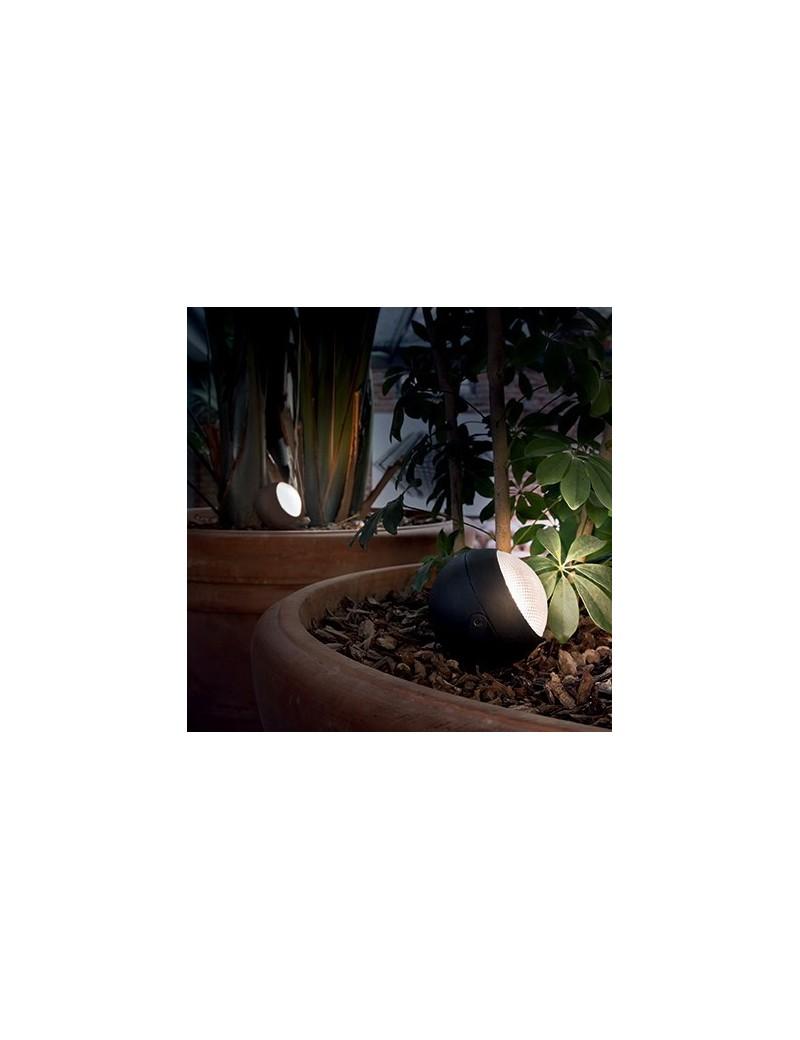 IDEAL LUX: Zenith paletto LED alluminio per giardino luce orientabile antracite 30cm in offerta