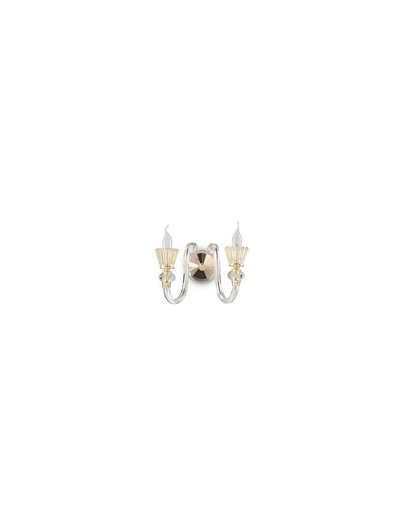 IDEAL LUX: Strauss ap2 applique cristallo ambrato finitura oro rosa in offerta