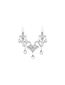 Negresco ap2 applique ideal lux cristallo vetro trasparente