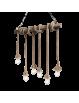 IDEAL LUX: Canapa sp6 sospensione metallo rivestita di canapa naturale in offerta