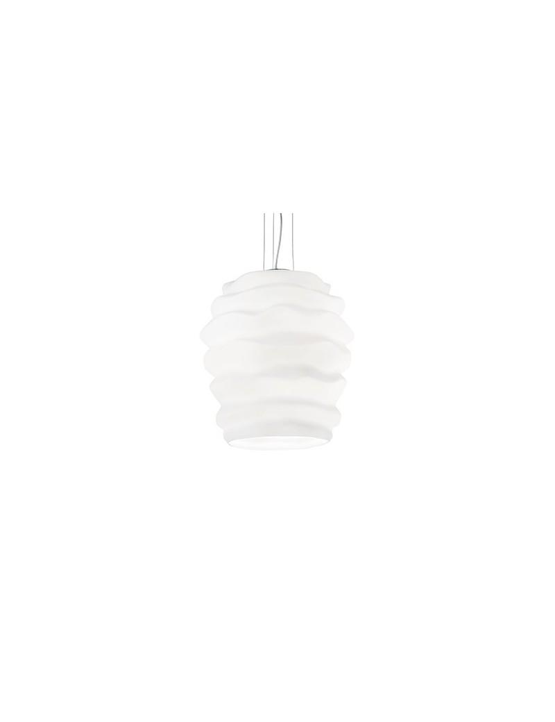 IDEAL LUX: Karma sp1 sospensione big vetro soffiato bianco in offerta